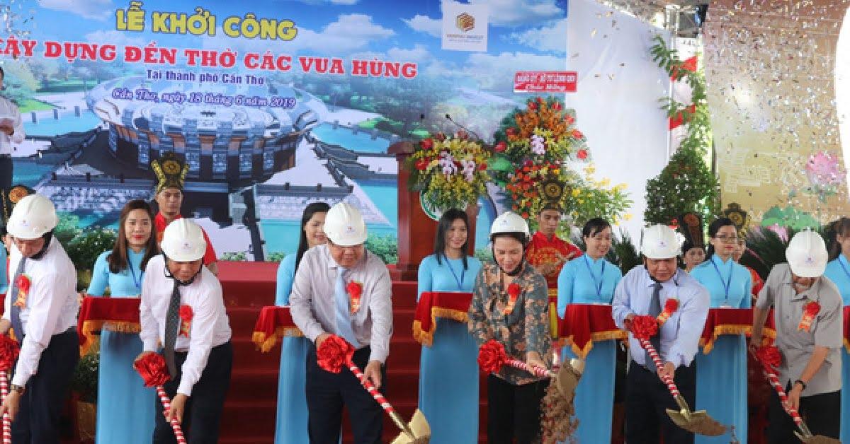 Chủ tịch Quốc hội Nguyễn Thị Kim Ngân thực hiện nghi thức khởi công đền thờ các vua Hùng