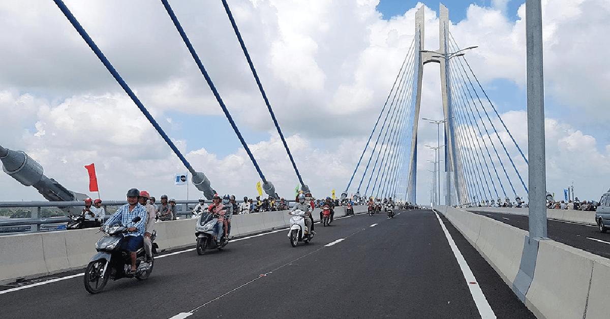 Công trình cầu Vàm Cống đã hoàn thành, đủ điều kiện đưa vào sử dụng từ 19-5-2019.