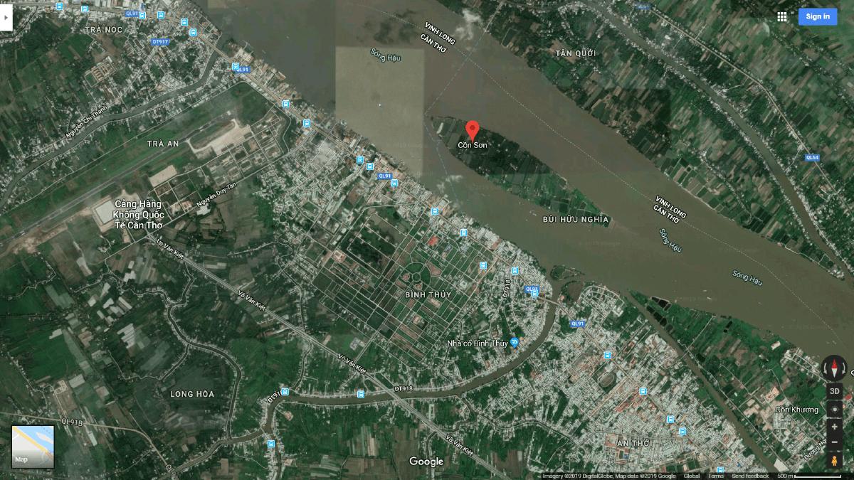 Vị trí dự án Khu du lịch Resort TMS Cồn Sơn – Cần Thơ.