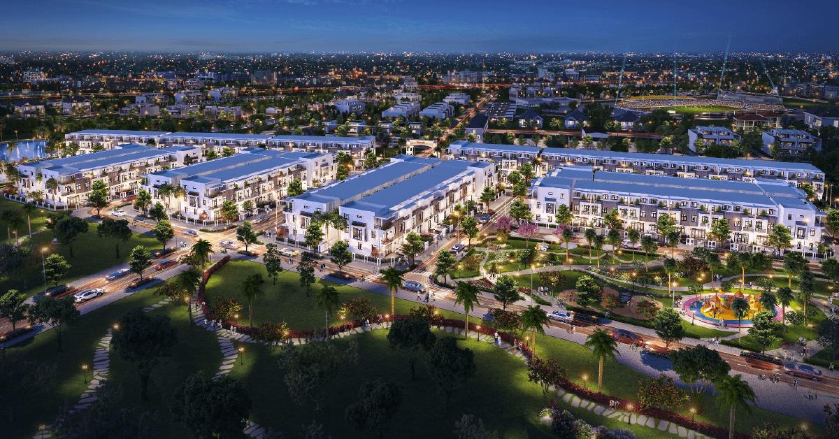 Phố cảnh dự án khu đô thị thông minh Thành Đô do LDG Group đầu tư phát triển tại quận Ô Môn, Cần Thơ.