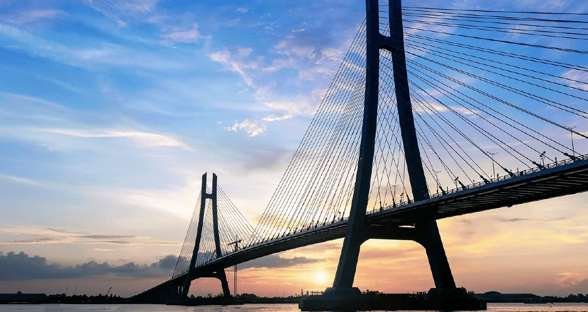 Cầu Vàm Cống – công trình giao thông quan trọng tại Tây Nam Bộ.