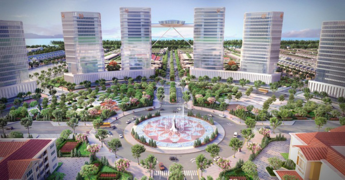 Quảng trường trung tâm – biểu tượng dự án Stella Mega City
