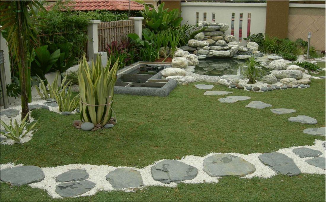 không gian sân vườn độc đáo