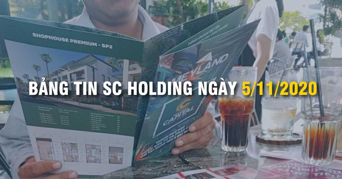 BẢNG TIN SC HOLDING NGÀY 5/11/2020
