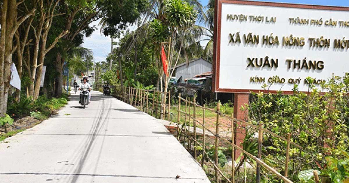 Huyện Thới Lai (TP Cần Thơ) Đạt Chuẩn Nông Thôn Mới
