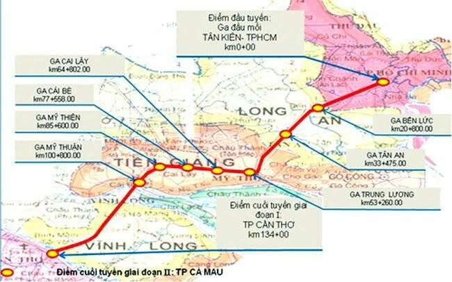 Bộ Giao Thông Đầu Mối Nghiên Cứu Xây Dựng Tuyến Đường Sắt TP HCM – Cần Thơ