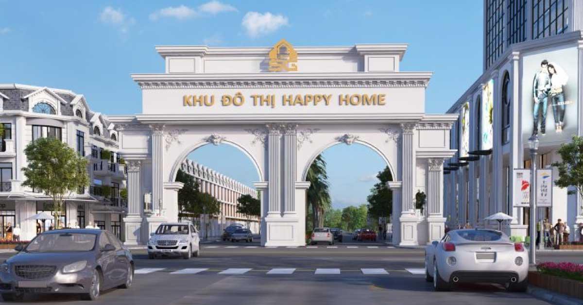 cổng chào happy home cà mau